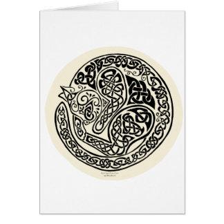 Cat Dreams Celtic Black Ivory Card