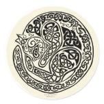 Cat Dreams Celtic Black Ivory Classic Round Sticker