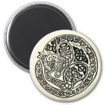 Cat Dreams Celtic Black Ivory Magnet