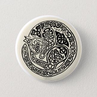 Cat Dreams Celtic Black Ivory Pinback Button