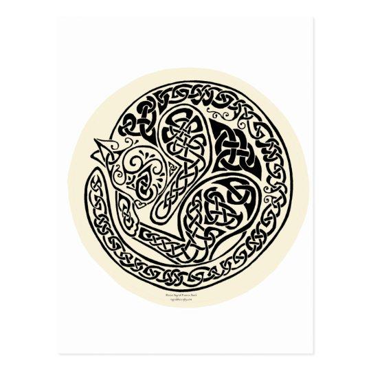 Cat Dreams Celtic Black Ivory Postcard