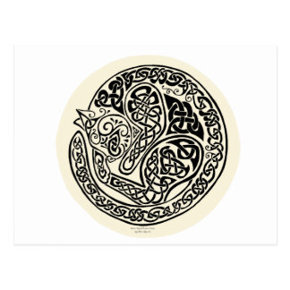 Cat Dreams Celtic Black Ivory Postcard