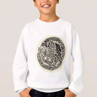 Cat Dreams Celtic Black Ivory Sweatshirt