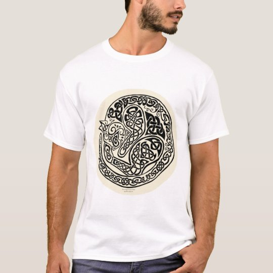 Cat Dreams Celtic Black Ivory T-Shirt