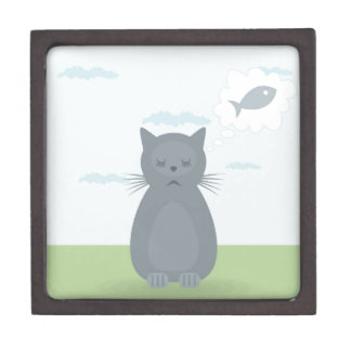 Cat dreams jewelry box