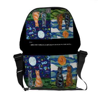 Cat Dreams original art Courier Bag