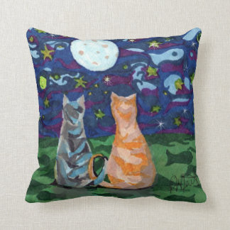 Cat Dreams Reversable Art Throw Pillow