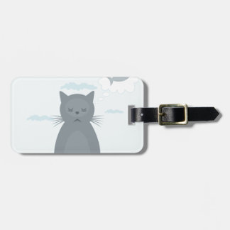 Cat dreams tag for luggage