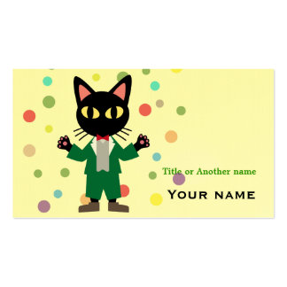 Cat Dressed Business Card