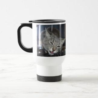 Cat_Drinking_Kitchen_Tap,_White_Travel_Coffee_Mug Travel Mug