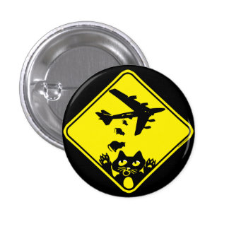 Cat Droppings by Mudge Studios Pinback Button