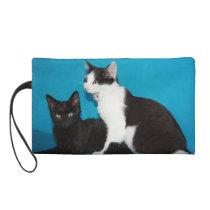 Cat duet wristlet purse