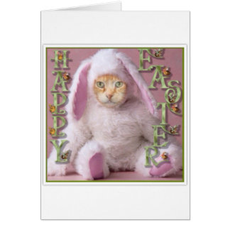 Cat Easter Bunny Claude Card