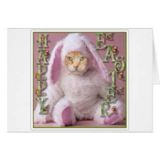 Cat Easter Bunny Claude Card