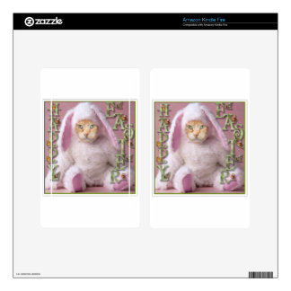 Cat Easter Bunny Claude Decals For Kindle Fire