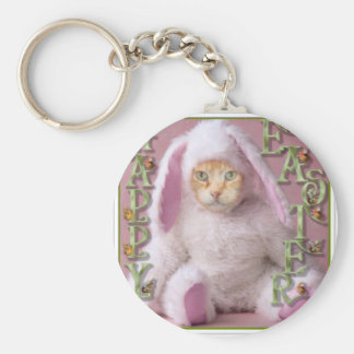 Cat Easter Bunny Claude Keychain