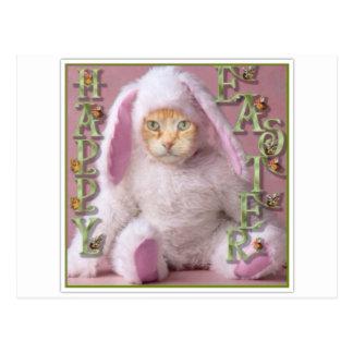 Cat Easter Bunny Claude Postcard