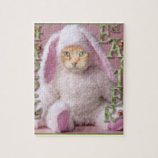 Cat Easter Bunny Claude Puzzle