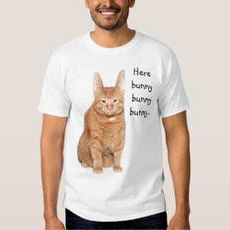 Cat Easter Bunny hunt T Shirt