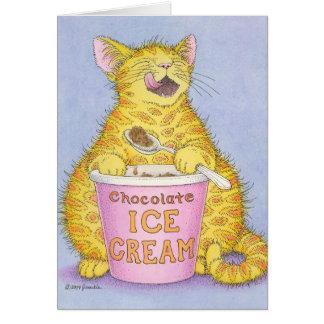 CAT eating ice cream Card