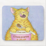 CAT eating ice cream Mousepads