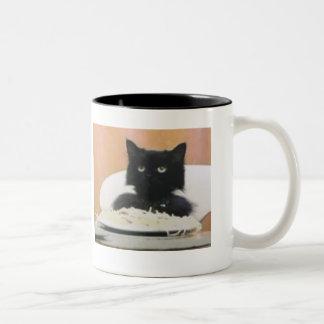 Cat Eating Spaghetti Mugs