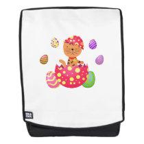 Cat Egg Easter Funny Gift Cat Lover Backpack