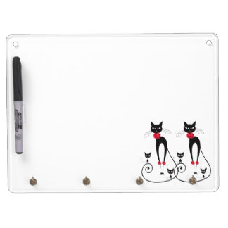 Cat elegance PERSONALIZE Dry Erase Board With Keychain Holder