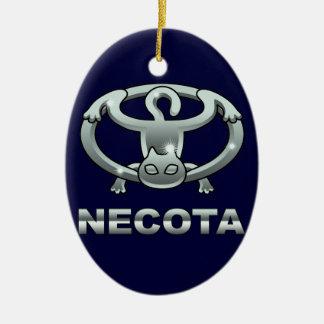 cat emblem 1 ceramic ornament