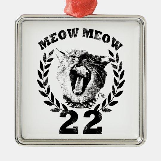 Cat emblems metal ornament