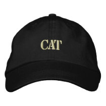 CAT EMBROIDERED BASEBALL HAT