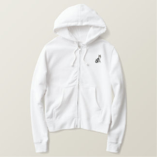 Cat Embroidered Hoodie