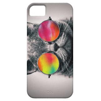 CAT EN ESPACIO iPhone 5 FUNDA