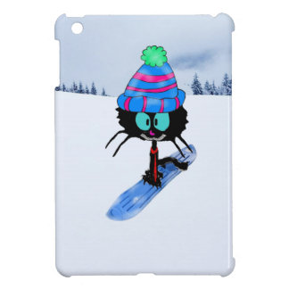 Cat enjoying The Winter Snow iPad Mini Cover