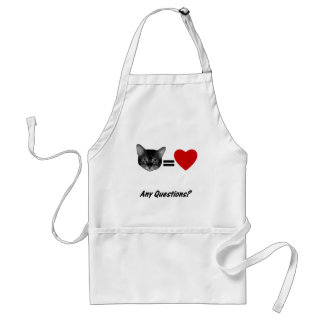 Cat Equals Love Adult Apron