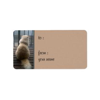 Cat Escape Gift Tag Label