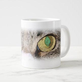 Cat Eye Drinkware or Mug 20 Oz Large Ceramic Coffee Mug