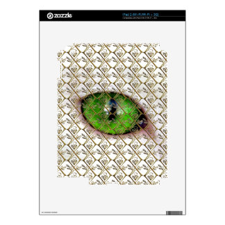 Cat Eye Girly Monogram Cute Eyeball Vintage Floral Decals For iPad 2