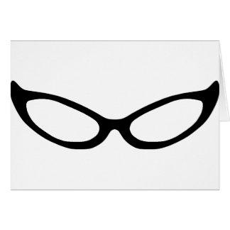 Cat Eye Glasses Card