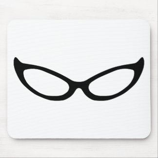 Cat Eye Glasses Mouse Pad
