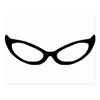Cat Eye Glasses Postcard