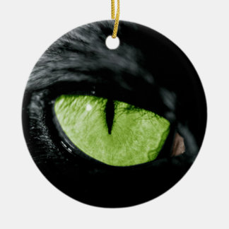 Cat eye Double-Sided ceramic round christmas ornament