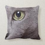 Cat Eye Throw Pillows