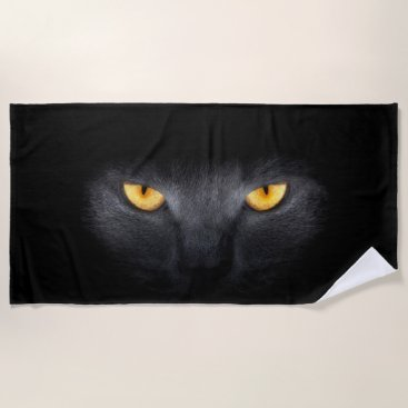 Beach Themed Cat Eyes Beach Towel