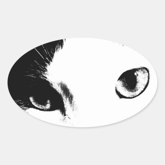 Cat Eyes (Black and White) Sticker