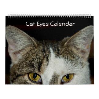 Cat Eyes Close-up Calendar