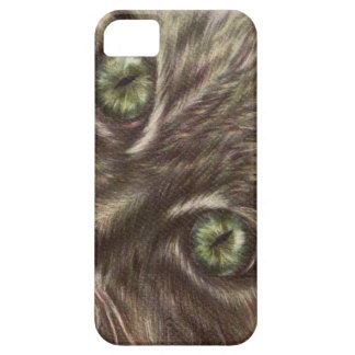 Cat Eyes Drawing Close Up on iPhone Case iPhone 5 Covers