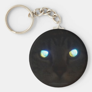 Cat Eyes Glow Deep, Priceless Basic Round Button Keychain