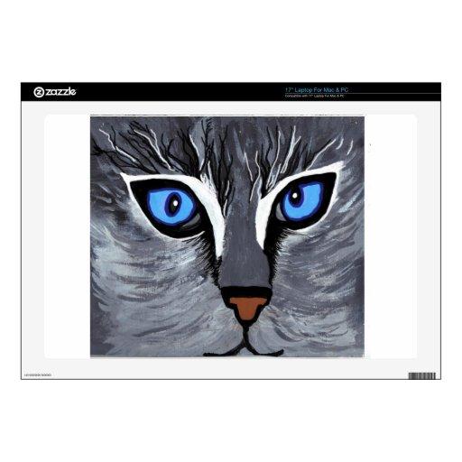cat eyes gorgeous blue laptop decals