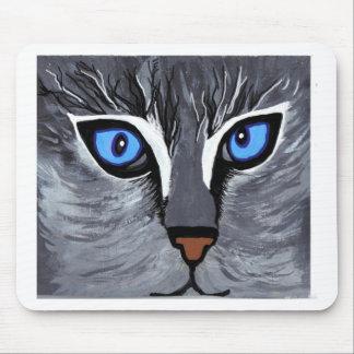 cat eyes gorgeous blue mouse pad